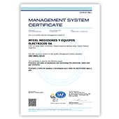 Management System Certificate - ISO 9001:2015